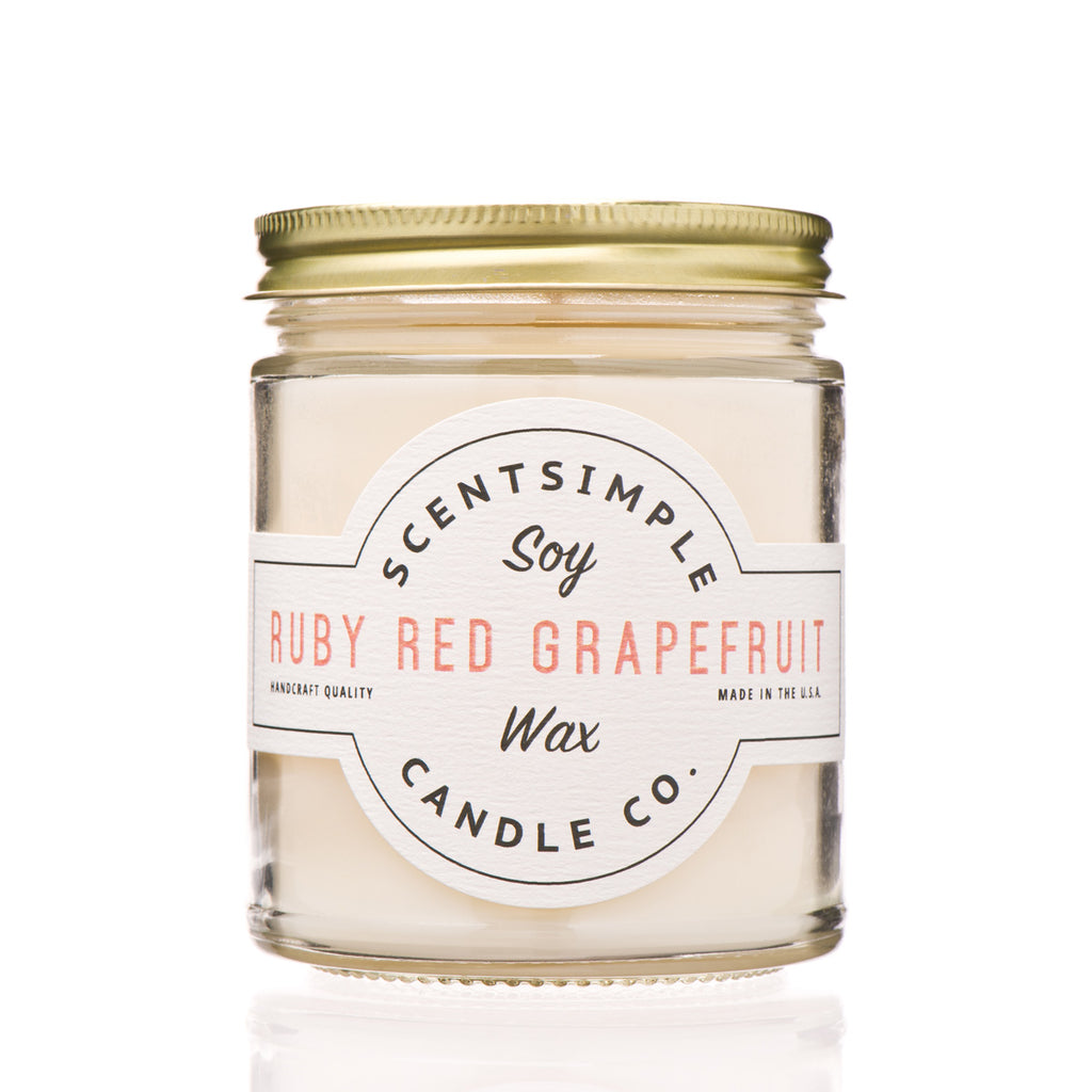 Ruby Red Grapefruit Soy Wax Candle ~ 7 oz.