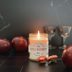 Apple Bourbon Scented Soy Wax Candle