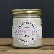 Lavender Lace Scented Soy Wax Candle