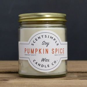 Pumpkin Spice Scented Soy Wax Candle