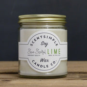 Sea Salted Lime Scented Soy Wax Candle