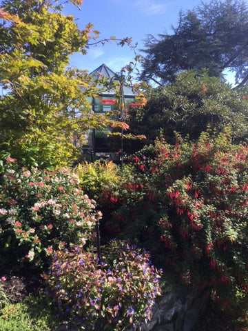 fitting into the garden landscape