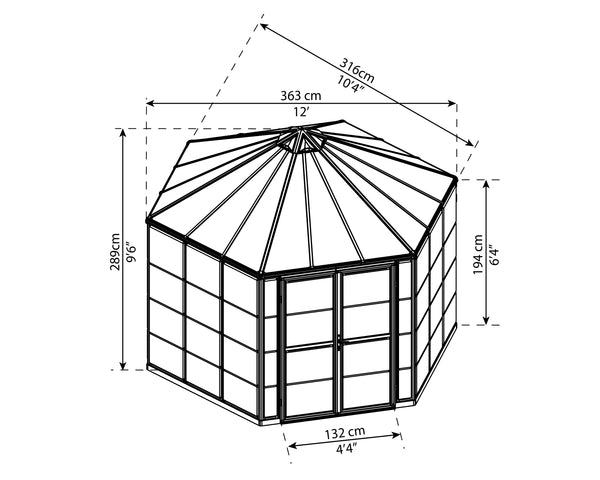 Palram Oasis® 12 ft Hexagonal Greenhouse - Canada Greenhouse Kits