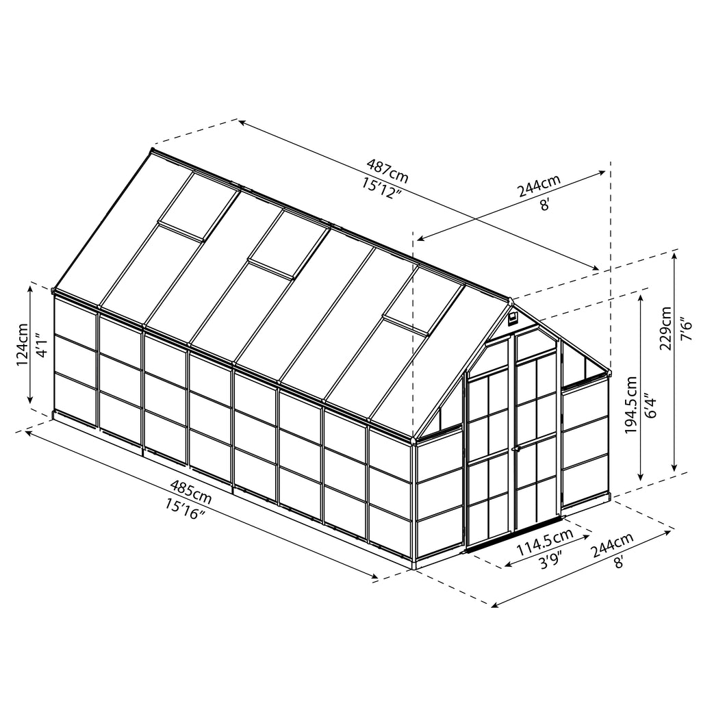 Palram_Greenhouses_Balance_8x16_Dimensions