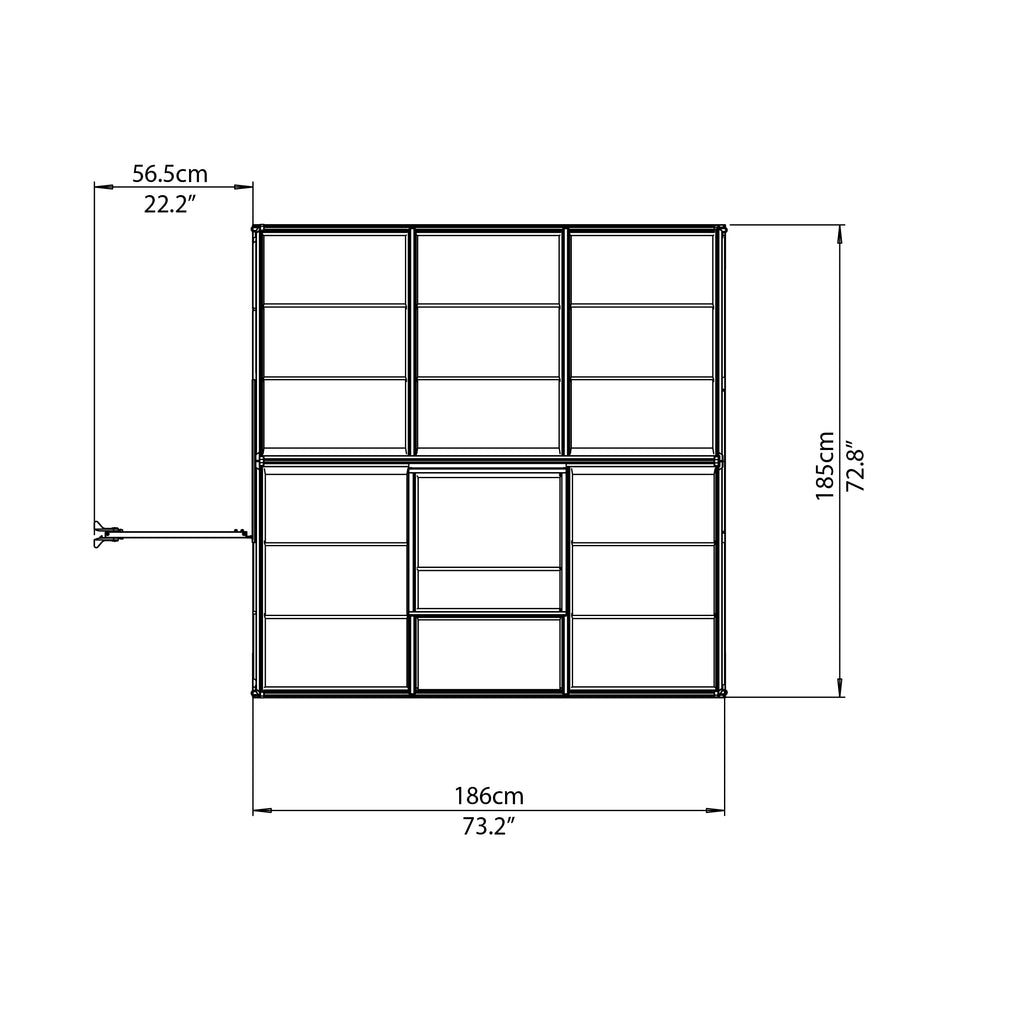 Mythos 6x6 Top View Drawing
