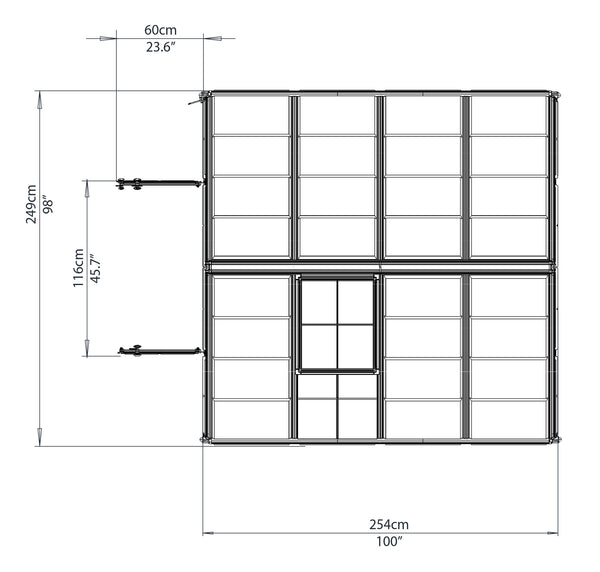 PALRAM Snap N Grow 8x8 Drawing TOP view