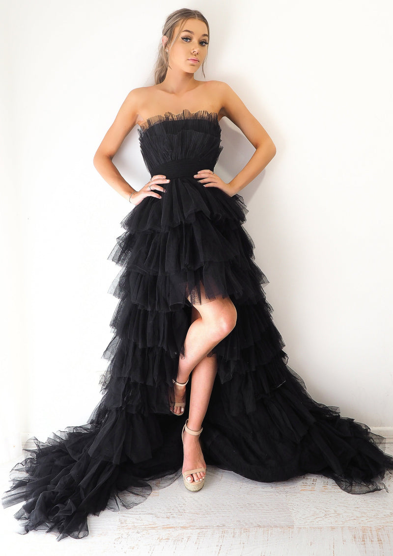 Black Swan Tulle Layered skirt corset dress