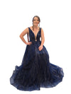 Aphrodite midnight blue sparkling dress