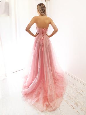 You are my cupcake sparkling pink strapless dress