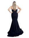 Katie black strapless mermaid dress