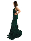 Izzy multi wrap forest green mermaid dress