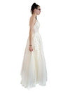Shannon nude white lace tulle dress