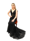 Alyssa sparkling black mermaid dress
