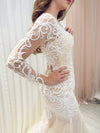 Amelyn nude mermaid dress with symmetrical lace