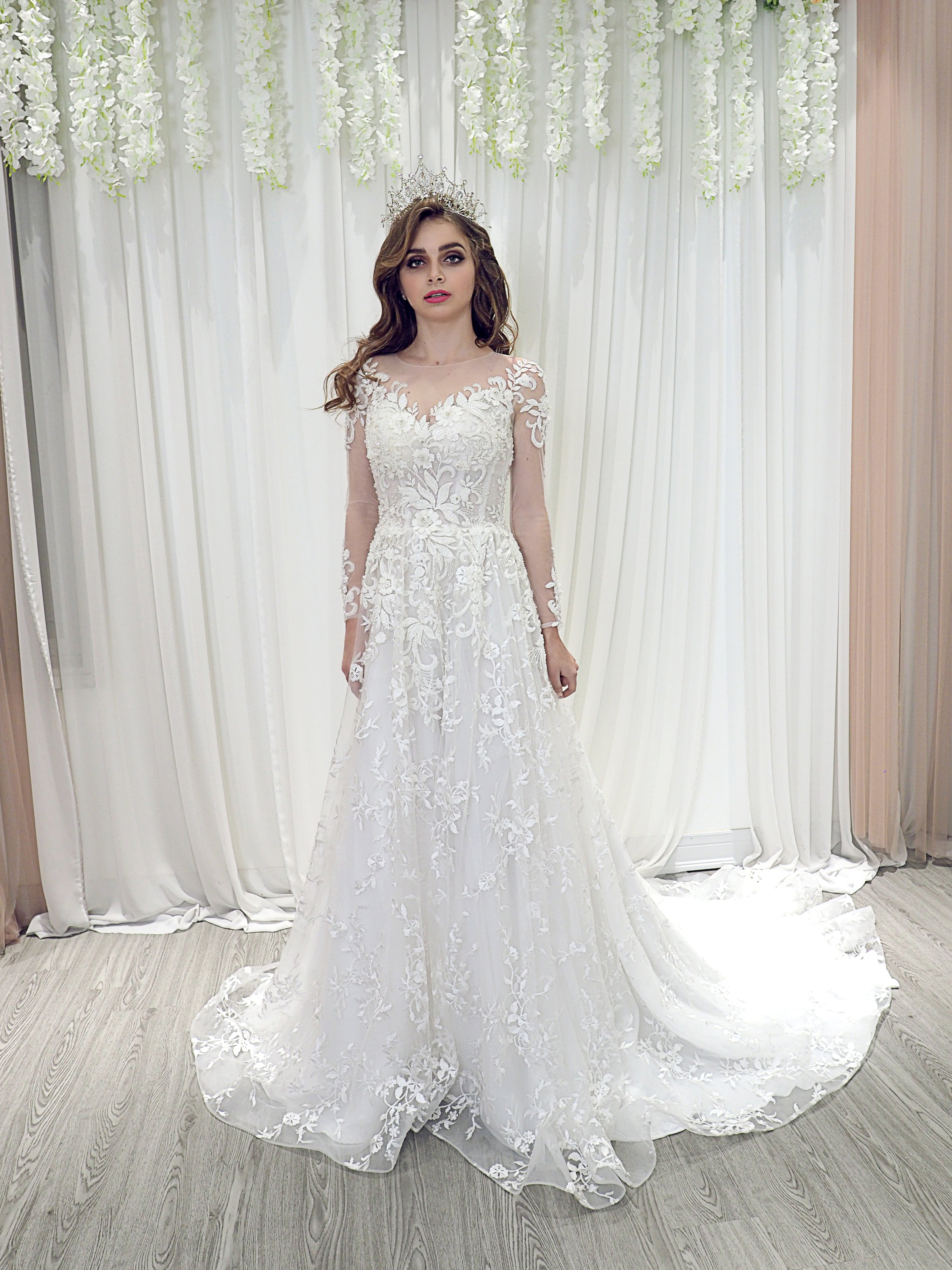 Annabelle a line lace wedding dress