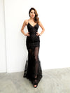 Black Dahlia sequin mermaid dress