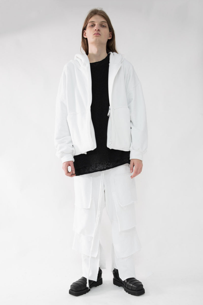 Oversized Folded Zipper Hoodie - NELLY JOHANSSON