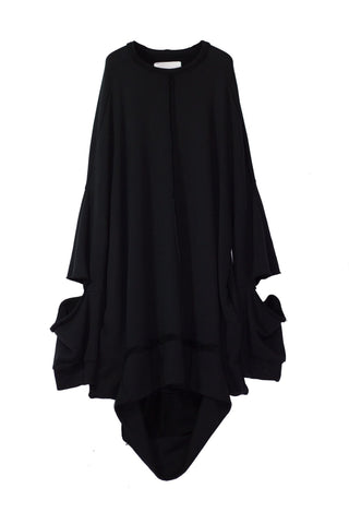 NELLY JOHANSSON DRAPED SWEATER DRESS
