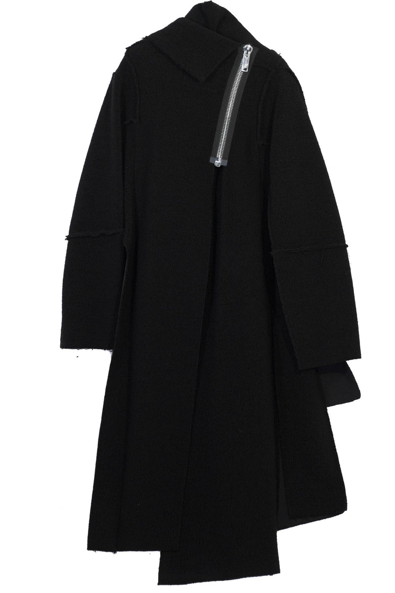 NELLY JOHANSSON ASYMETRICAL WOOL COAT - NELLY JOHANSSON