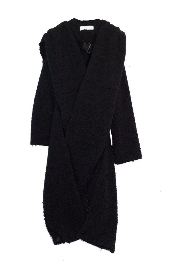 NELLY JOHANSSON WRAP FLEECE COAT