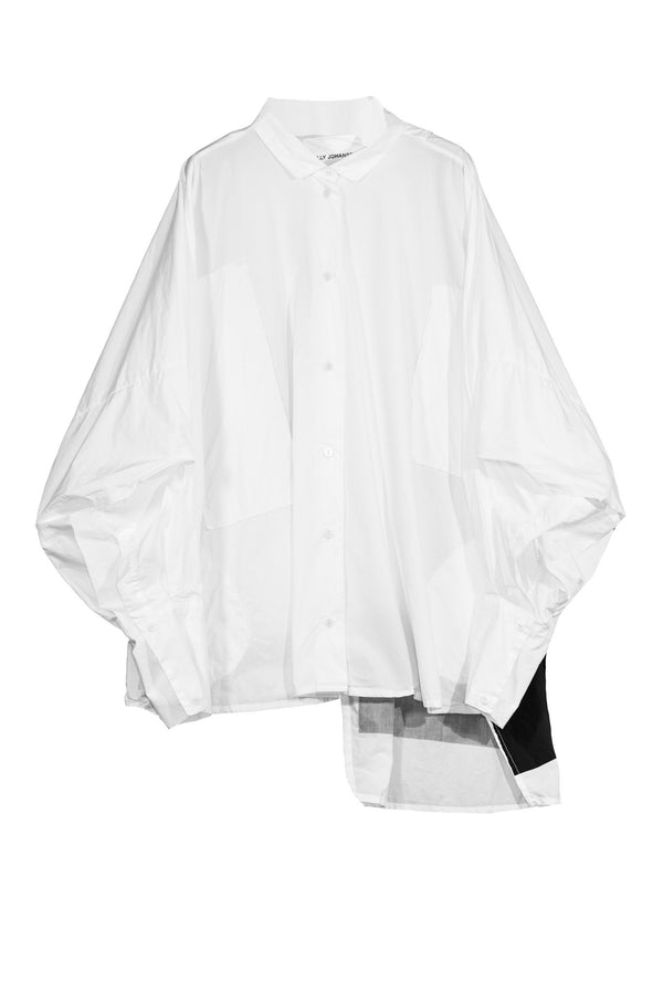 NELLY JOHANSSON WIDE SHIRT DRESS WHITE