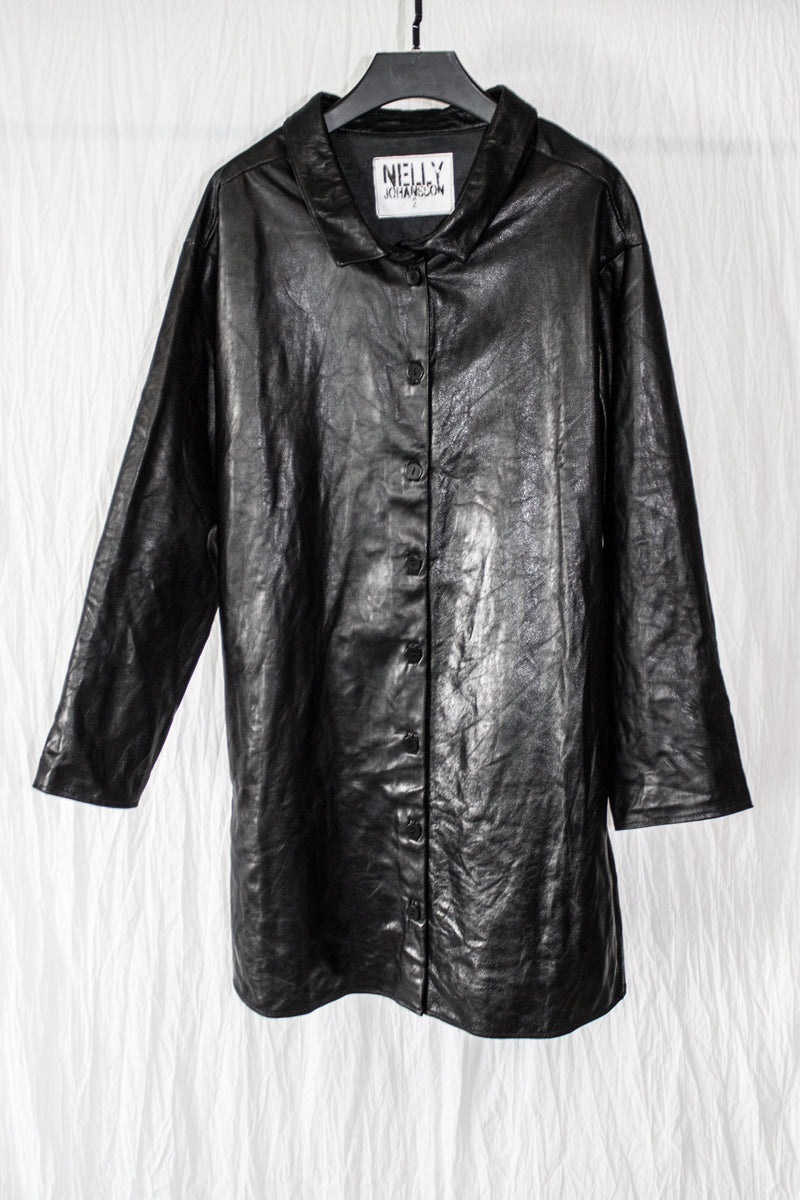 NELLY JOHANSSON LEATHER SHIRT - NELLY JOHANSSON