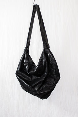 NELLY JOHANSSON MOON SHAPED LEATHER BAG - NELLY JOHANSSON
