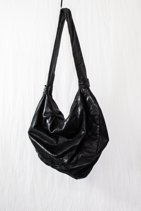 NELLY JOHANSSON MOON SHAPED LEATHER BAG