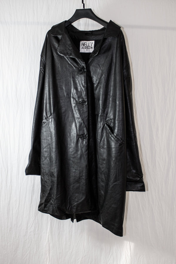 NELLY JOHANSSON FAUX LEATHER COAT