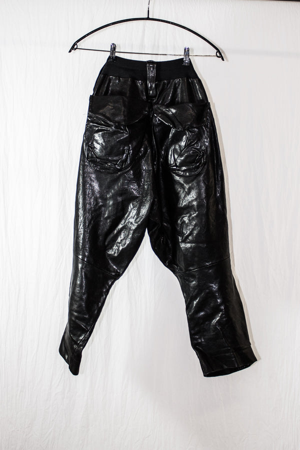 NELLY JOHANSSON VINTAGE LEATHER TROUSERS - NELLY JOHANSSON
