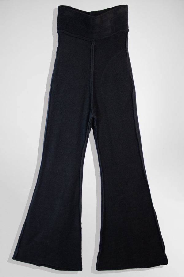 NELLY JOHANSSON FLARED VELOUR PANTS