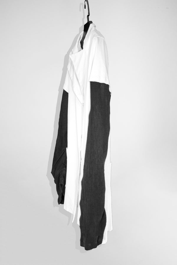 NELLY JOHANSSON WHITE BLAZER WITH BLACK SLEEVES - NELLY JOHANSSON