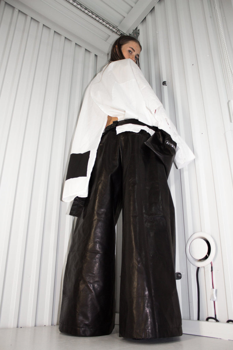 NELLY JOHANSSON FLARED HORSE PANTS