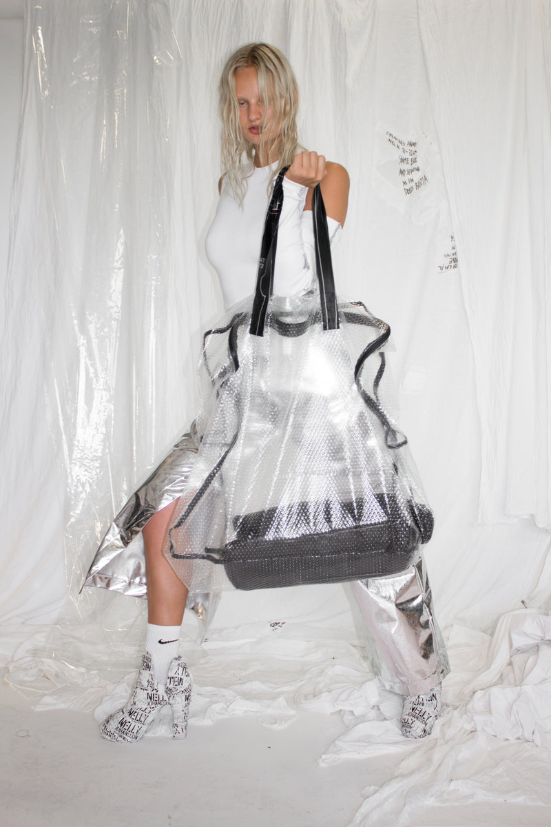 CARL IVAR + NELLY JOHANSSON OVER SIZED BUBBLEWRAP BAG - NELLY JOHANSSON