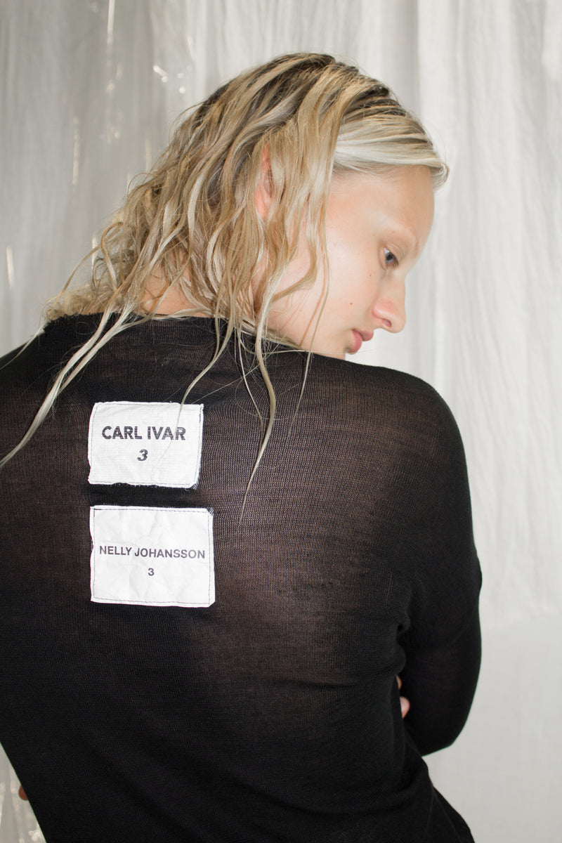 CARL IVAR + NELLY JOHANSSON PURE SILK T-SHIRT - NELLY JOHANSSON