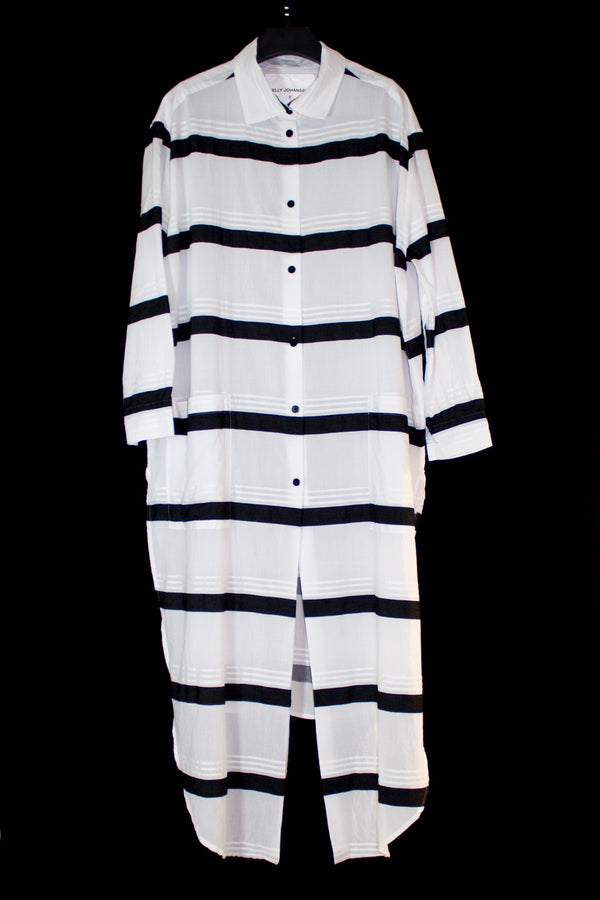 NELLY JOHANSSON STRIPE SHIRT DRESS - NELLY JOHANSSON