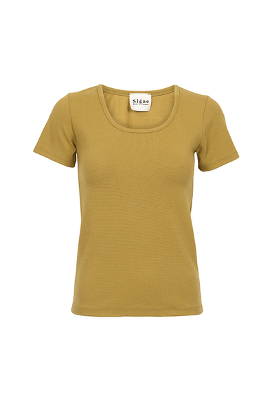 Basic rib tee green - PJOKI