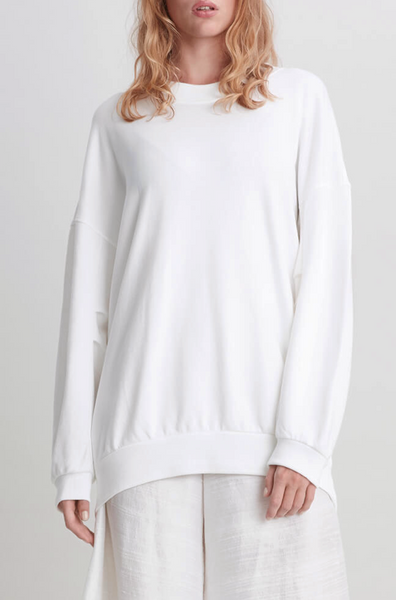 Lux oversized jersey white