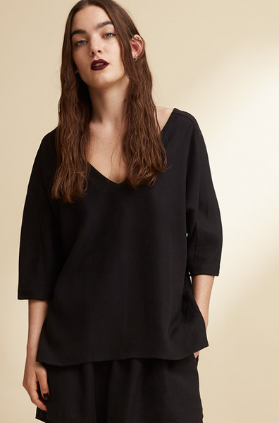 Sand washed silk blouse - PJOKI