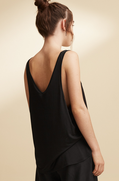 Timeless silk top made of organic silk by Swedish designer Ores