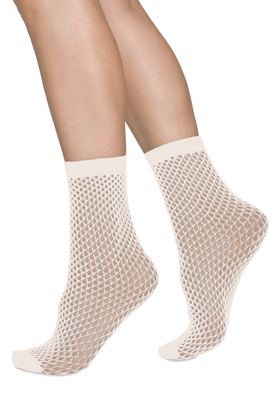 Net socks from Swedish Stockings made out of recycled yarn