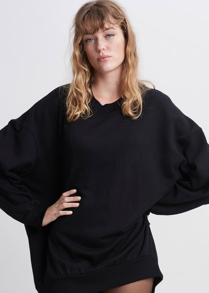 Lux oversized jersey black