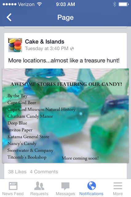 sea glass candy at Cake & Islands