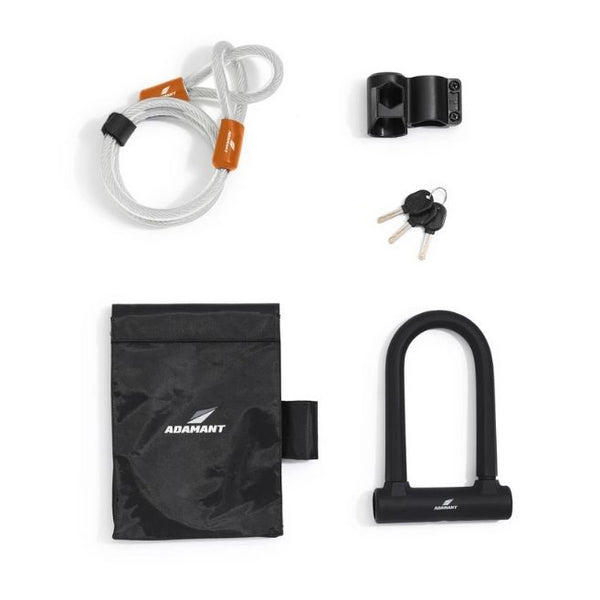 Adamant - CarbonHead Double-Strength U-Lock & Steel Cable