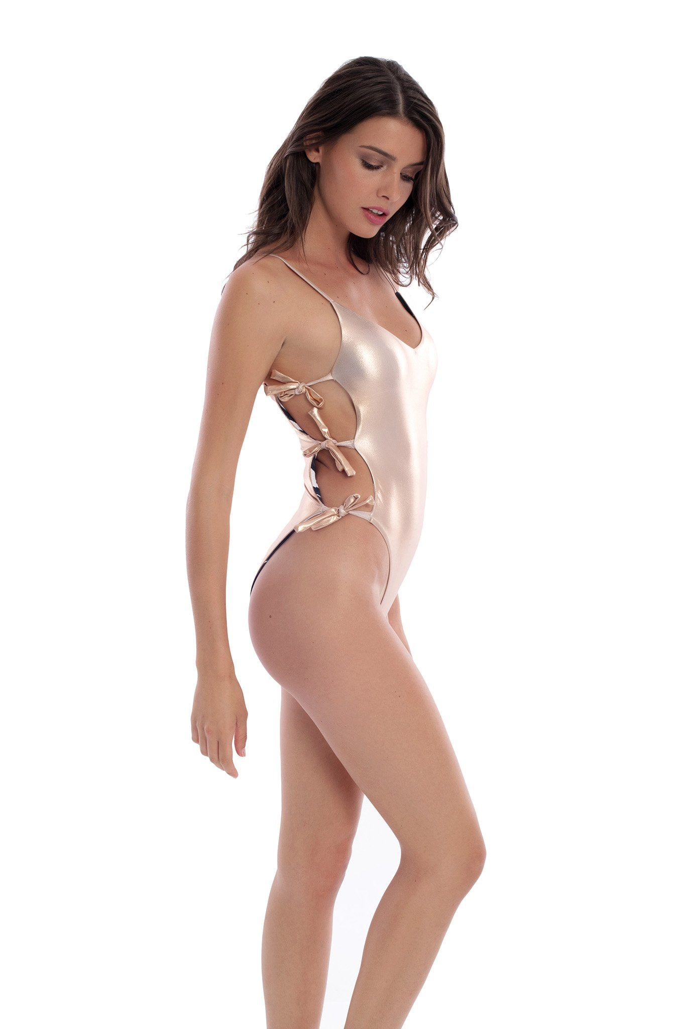BLONDIE CHAMPAGNE / JAVAN REVERSIBLE ONE PIECE