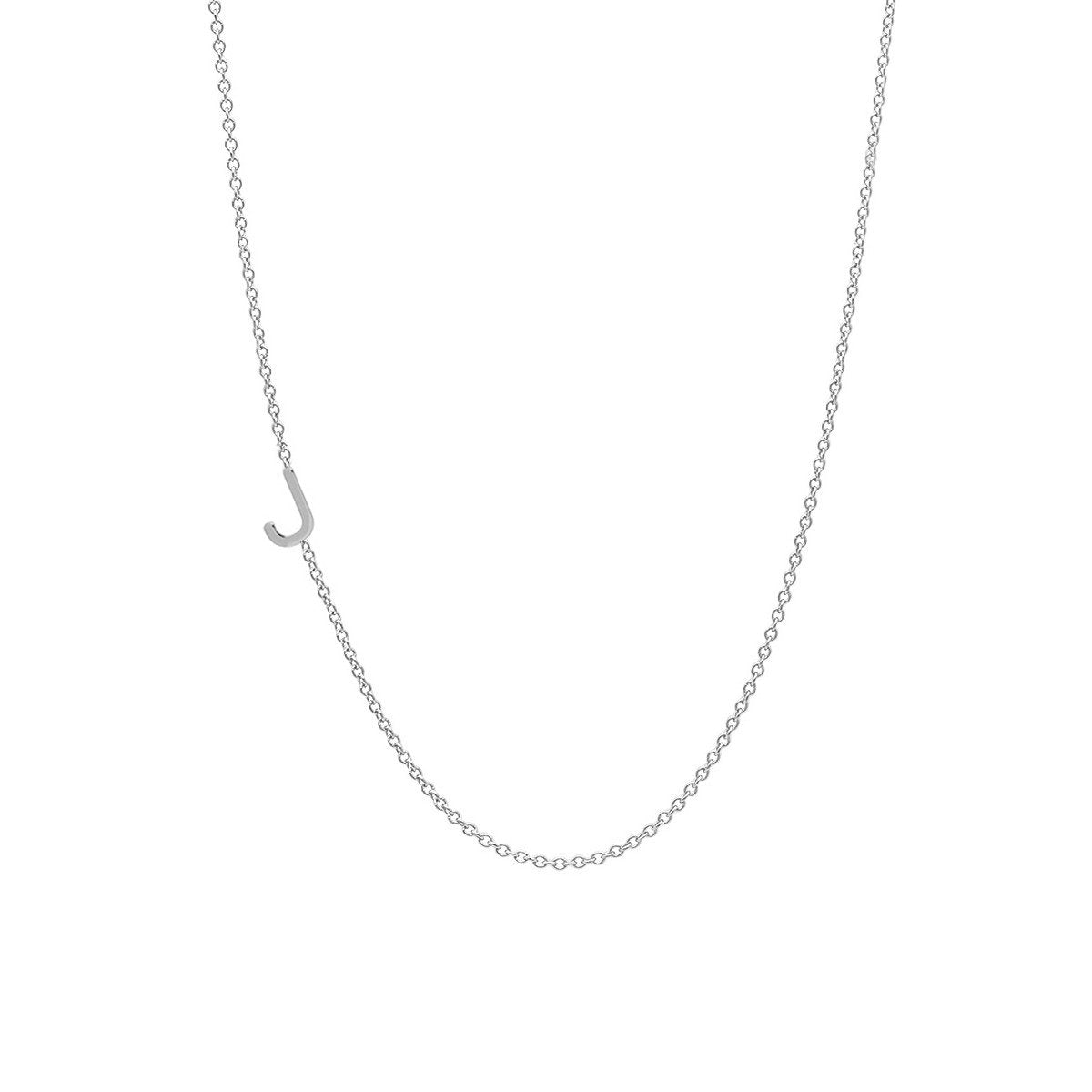 INITIAL NECKLACE - WHITE GOLD