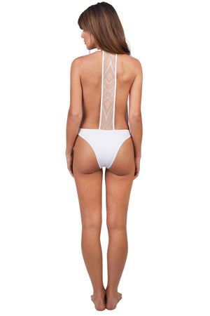GRACE JONES WHITE PALM ONE PIECE