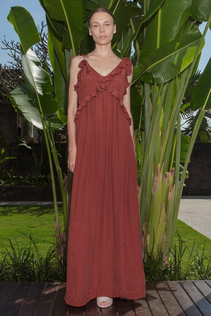 HANNAH DRESS - INDIAN RED