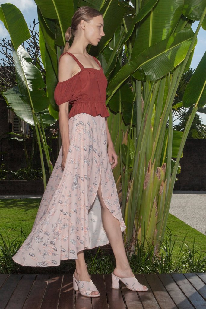 AVERY SKIRT - PEACH ORIENTAL