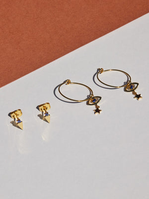STARRY-EYED MINI HOOPS
